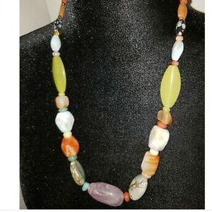 Jay King Semi-Precious 9.25 Silver Necklace